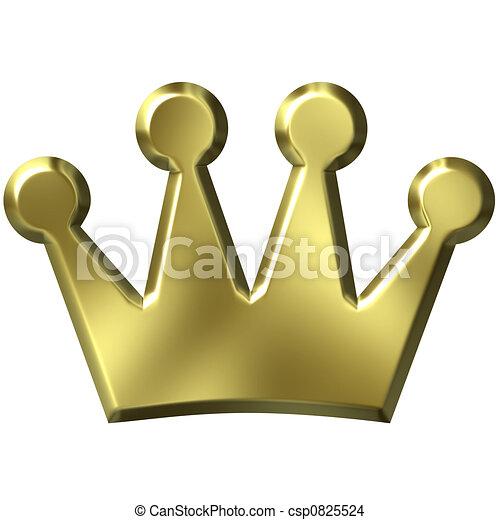 金の王冠, 3d - csp0825524