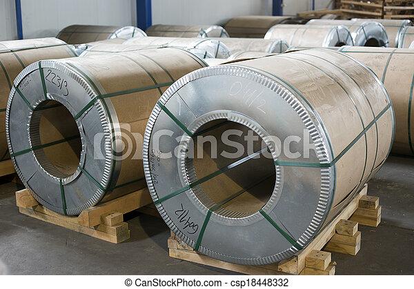 金属, 生産, シート, ホール, 回転する - csp18448332