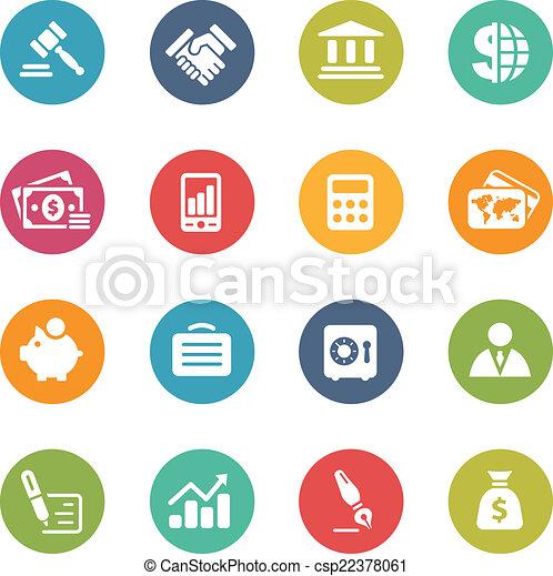 金融, ビジネス, 新たに, -, 色 - csp22378061