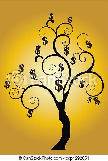 金, お金の 木 - csp4292051