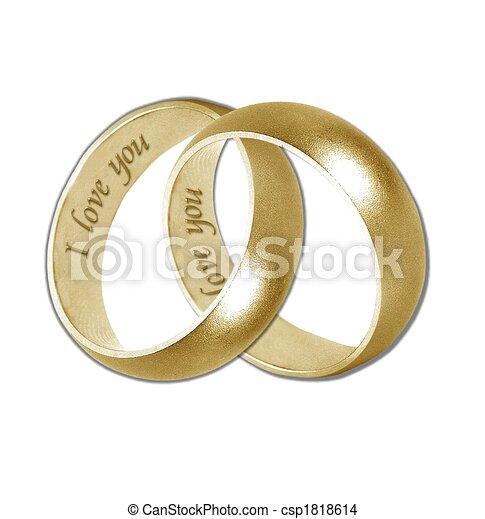 金, バンド, 結婚式 - csp1818614