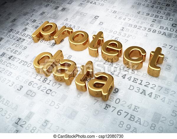 金, 保護しなさい, 背景, デジタル, セキュリティー, データ, concept: - csp12080730