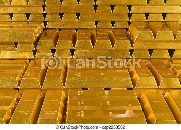 金, 山, 金塊 - csp2253562