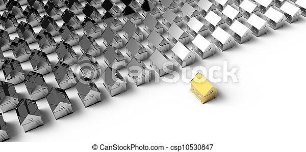 金, 概念, house., リーダーシップ - csp10530847
