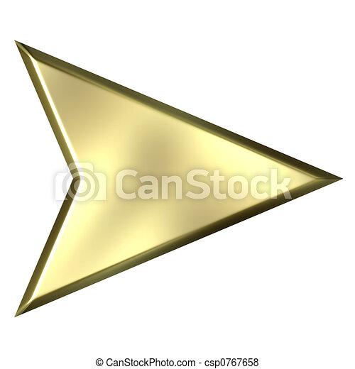 金, 矢, 3d - csp0767658