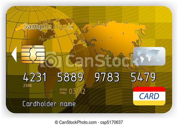 金, ∥競う∥, クレジット, ベクトル, 前部, カード - csp5170637