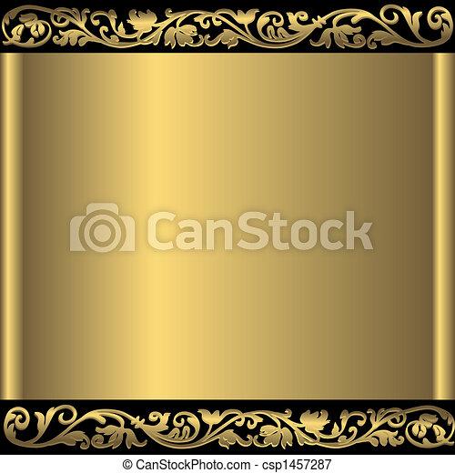 金 背景, 抽象的, (vector) - csp1457287