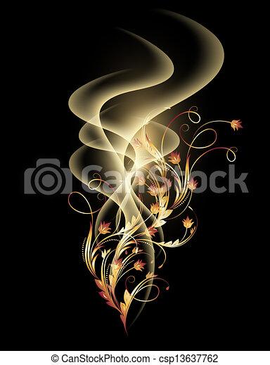 金, 装飾, 煙 - csp13637762