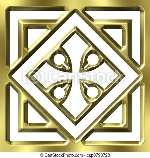 金, 装飾, 3d - csp0790728