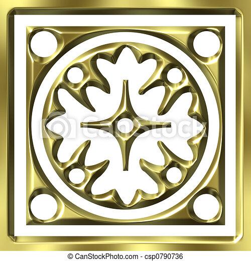 金, 装飾, 3d - csp0790736