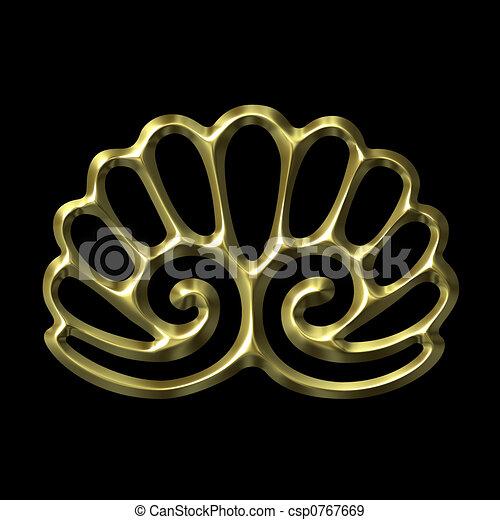 金, 装飾, 3d - csp0767669