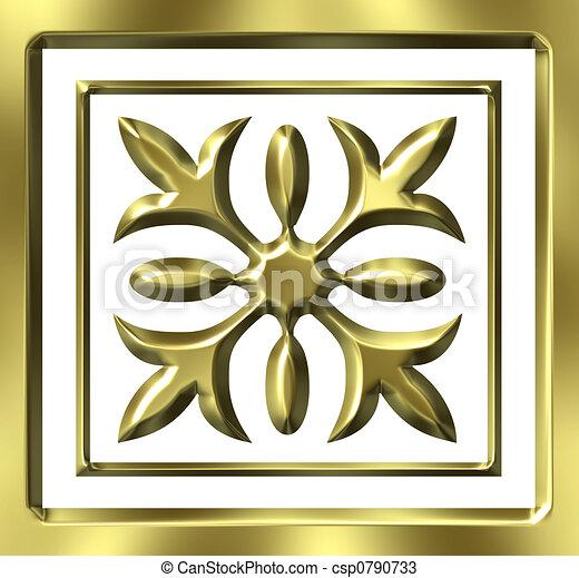 金, 装飾, 3d - csp0790733