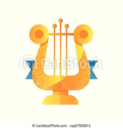 金, 賞, ベクトル, 音楽, イラスト, 背景, リラ, 白 - csp57505813