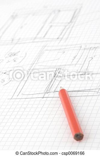 鉛筆, スケッチ - csp0069166