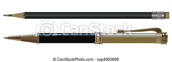 鉛筆, ボールペン - csp4950699