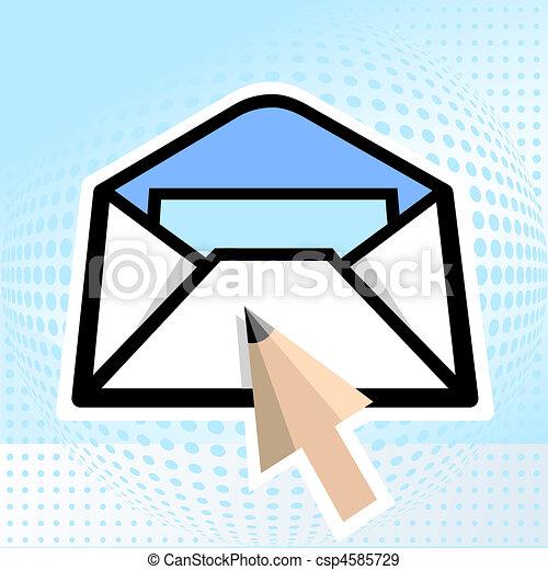 鉛筆, 電子メール - csp4585729