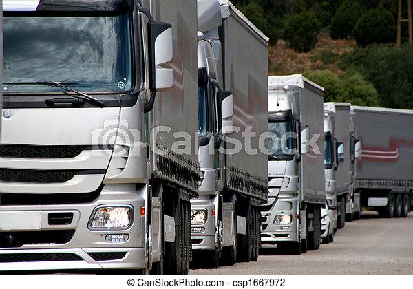 銀, 卡車 - csp1667972