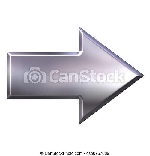 銀, 矢, 3d - csp0767689