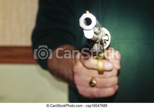銃, 保有物, 人 - csp16547688