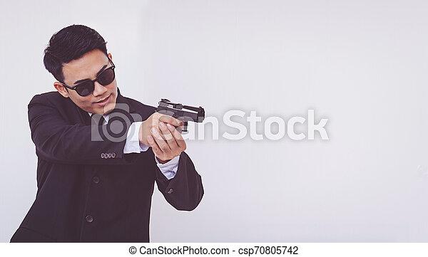 銃, 保有物, 痛みなさい, 人 - csp70805742