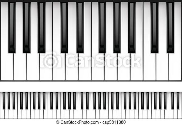 鋼琴鍵盤 - csp5811380