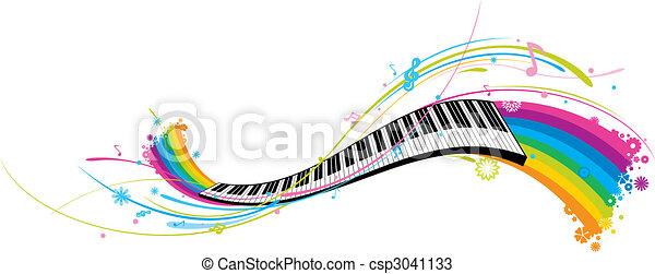 鋼琴鑰匙 - csp3041133