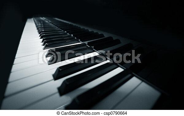 鋼琴, 盛大 - csp0790664