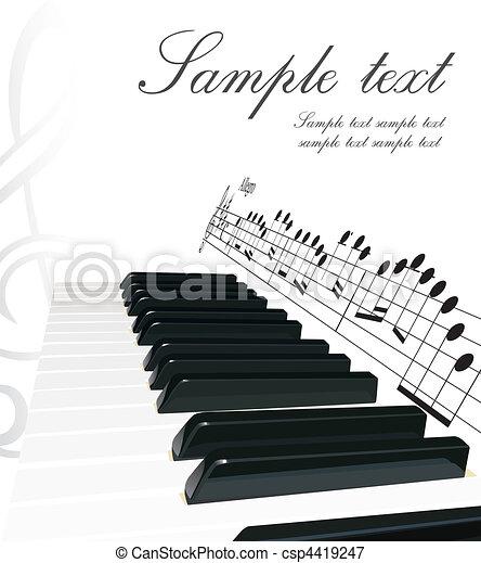 鋼琴, 背景 - csp4419247