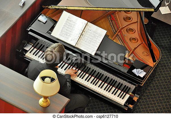 鋼琴, 音樂家 - csp6127710