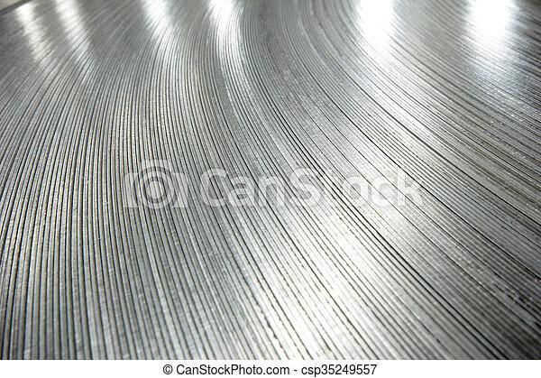 鋼鉄, シート, 回転する - csp35249557