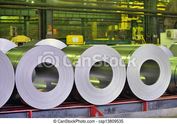 鋼鉄, シート, 回転する - csp13809535