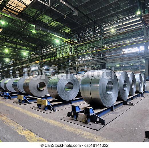 鋼鉄, シート, 回転する - csp18141322
