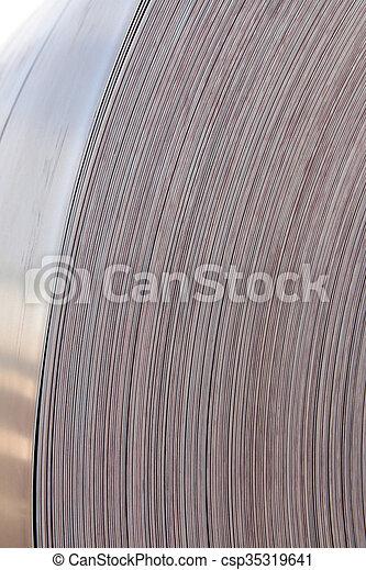 鋼鉄, シート, 回転する - csp35319641
