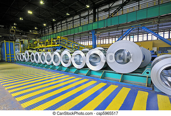 鋼鉄, シート, 回転する, パックされた - csp5965517