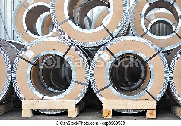 鋼鉄, シート, 回転する, パックされた - csp8363588