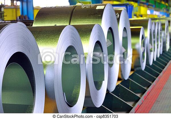 鋼鉄, シート, 回転する, 亜鉛 - csp8351703