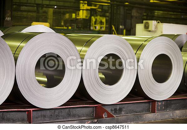 鋼鉄, シート, 回転する, 亜鉛 - csp8647511