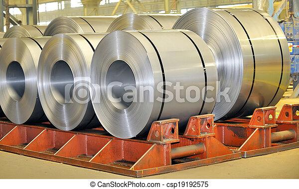 鋼鉄, シート, 回転する - csp19192575