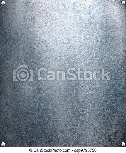 鋼鉄, プレート, res, 金属, 手ざわり, バックグラウンド。, やあ、こんにちは - csp9795750