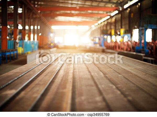 鋼鉄, 倉庫 - csp34955769