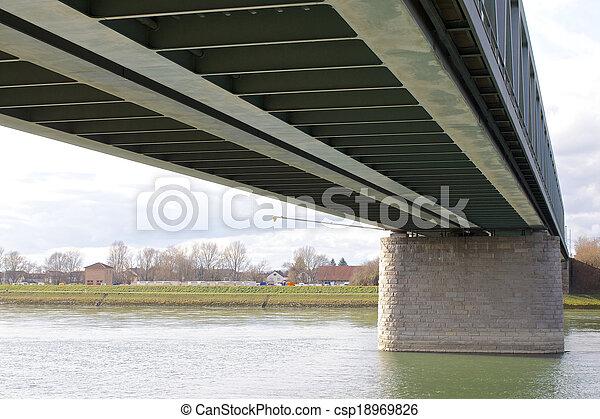 鋼鉄, 橋, 2, 下に - csp18969826