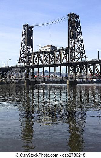 鋼鉄, 橋, vertical. - csp2786218