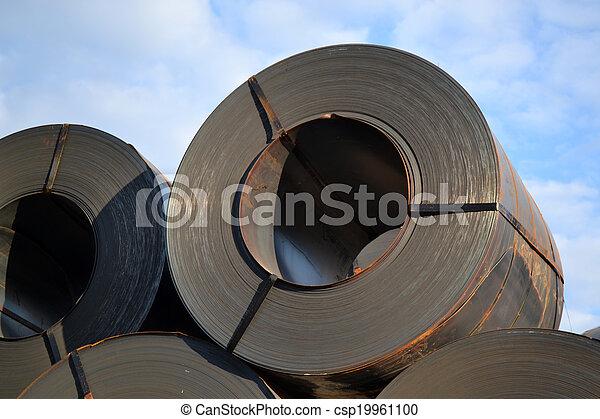 鋼鉄, 貨物, シート, 回転する - csp19961100