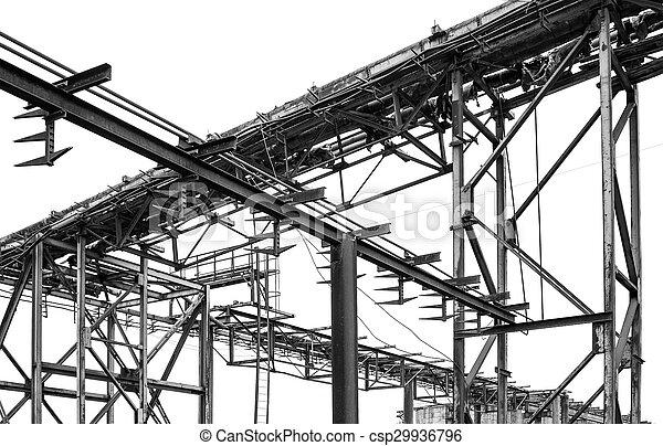 鋼鉄, pipe-line, 白い背景 - csp29936796
