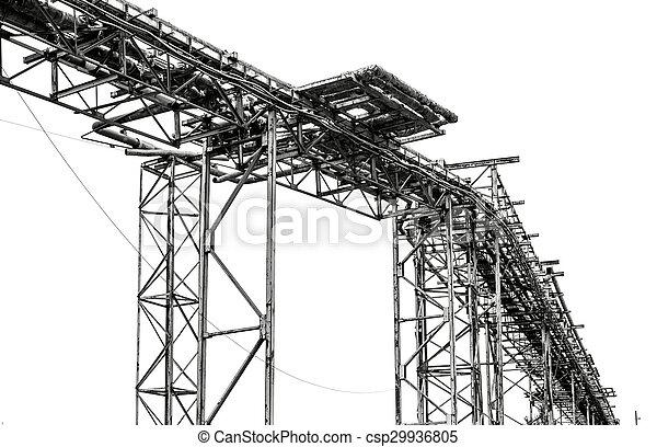 鋼鉄, pipe-line, 白い背景 - csp29936805