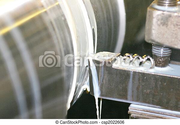 鋼, 不鏽純潔, 車床, 轉動 - csp2022606