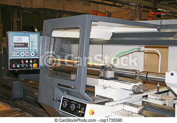 鋼, 不鏽純潔, 車床, 轉動 - csp1735590