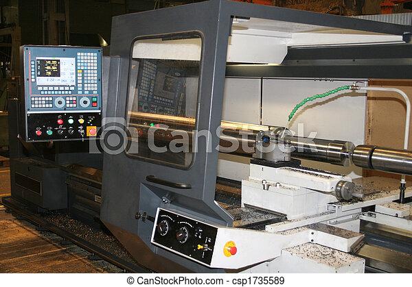 鋼, 不鏽純潔, 車床, 轉動 - csp1735589