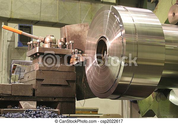 鋼, 不鏽純潔, 車床, 轉動 - csp2022617