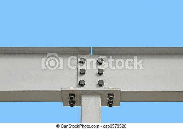 鋼, 工字金屬梁 - csp0573520